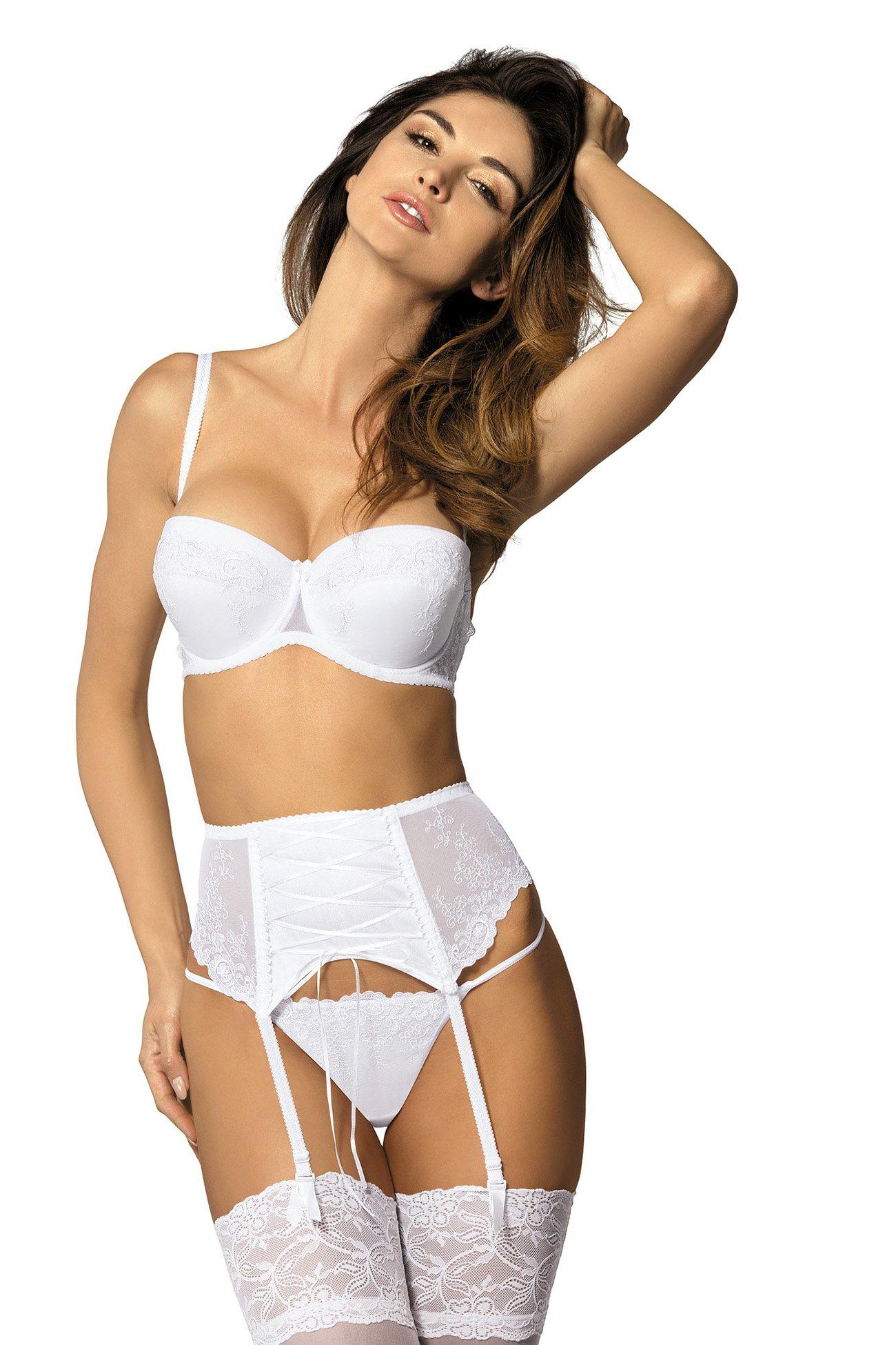 023e38df3 Gorteks Yvette PPW garter belt white Classic collection