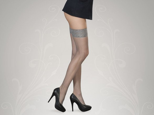 Stockings fishnet Lucia Grey